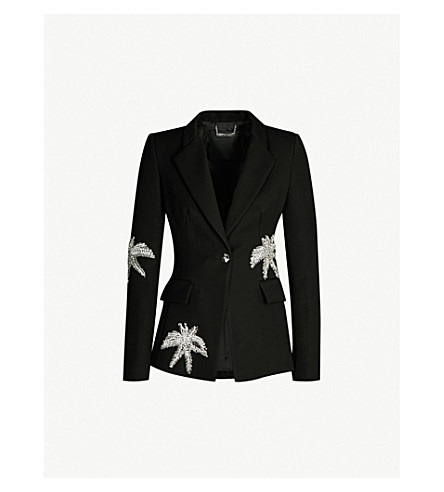 PHILIPP PLEIN Aloha crystal-embellished crepe blazer (Black