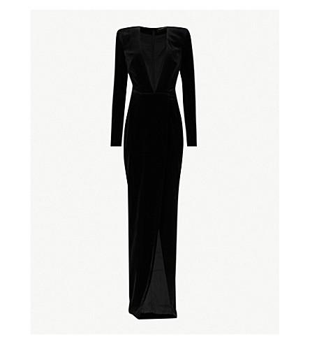 a02d5fe9cd ALEXANDRE VAUTHIER Plunging V-neck velvet gown (Black