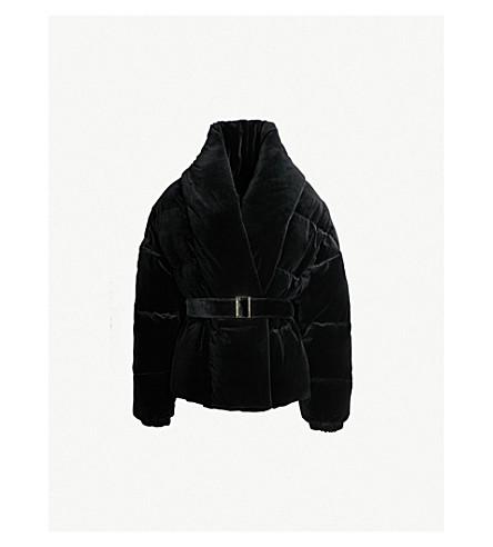 ALEXANDRE VAUTHIER Velvet-down puffer jacket (Black