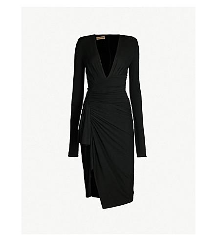 ALEXANDRE VAUTHIER Plunge V-neck stretch-jersey midi dress (Black