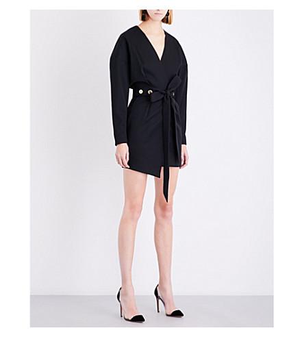 ALEXANDRE VAUTHIER Button-waist wool mini dress (Black