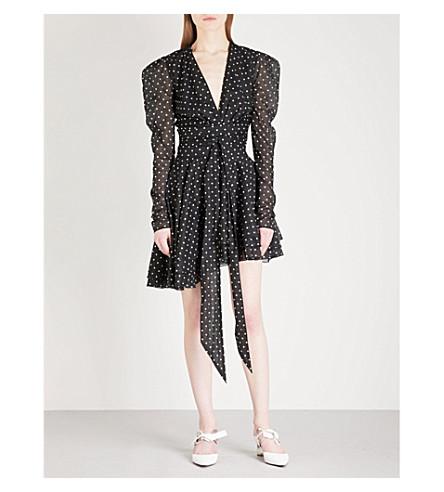 ALEXANDRE VAUTHIER Polka dot cotton dress (Black