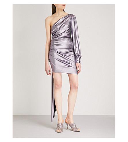 ALEXANDRE VAUTHIER One-shoulder metallic-lamé dress (Lilac