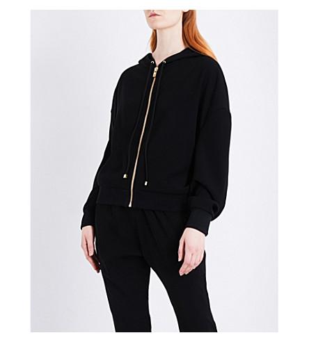 ALEXANDRE VAUTHIER Drawstring woven hoody (Black