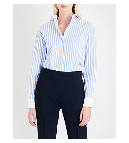 ALEXANDRE VAUTHIER Striped cotton-poplin shirt (Stripe