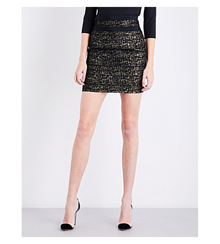 ALEXANDRE VAUTHIER Metallic tweed mini skirt (Black