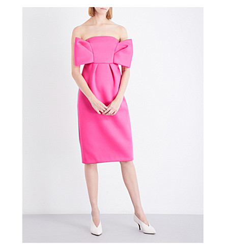 DELPOZO Bow-detailed neoprene dress (Camila+rose