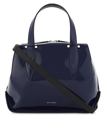 DELPOZO Benedetta medium tote bag (Imperial+blue/black