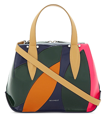 DELPOZO Benedetta medium tote bag (Blue/multi