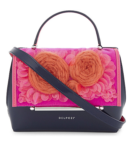 DELPOZO Floral cross-body bag (Shocking+pink