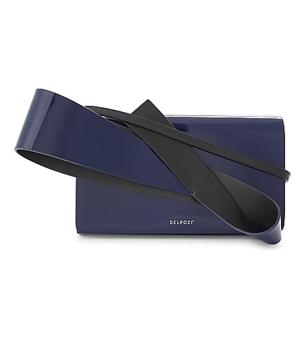 DELPOZO Orchid clutch bag (Imperial+blue/black