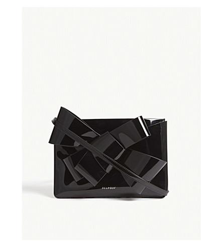 DELPOZO M'O exclusive bow mini clutch bag (Black