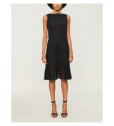 HUISHAN ZHANG Gwyneth woven midi dress (Black