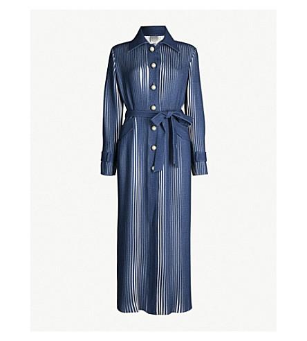 HUISHAN ZHANG Linna denim trench dress (Lapis blue