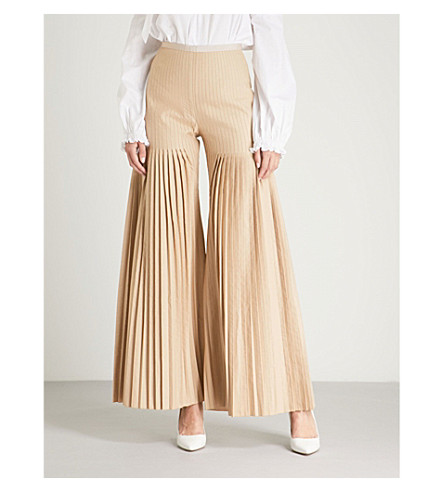 HUISHAN ZHANG Mariela flared pleated gabardine pants