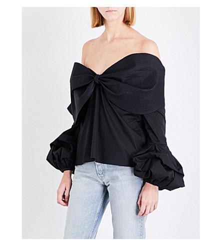 JOHANNA ORTIZ Lutari stretch-cotton top (Black