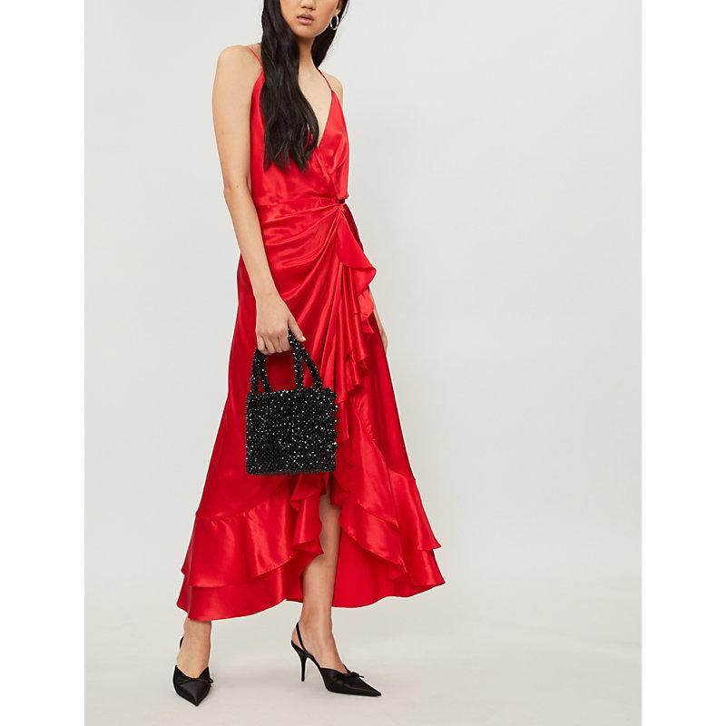 JOHANNA ORTIZ Perfumero silk-satin midi dress