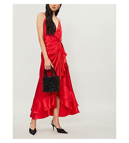 JOHANNA ORTIZ Perfumero silk-satin midi dress (Spicy+red