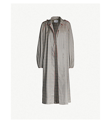 JOHANNA ORTIZ Checked wool and silk-blend kimono (Deepstone
