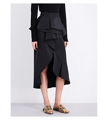 JOHANNA ORTIZ Talisman silk skirt (Black