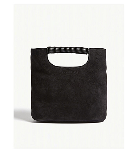 SIMON MILLER Mini Birch suede tote (Black