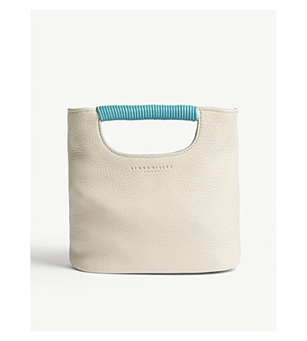 SIMON MILLER Mini birch leather tote bag (Cliff