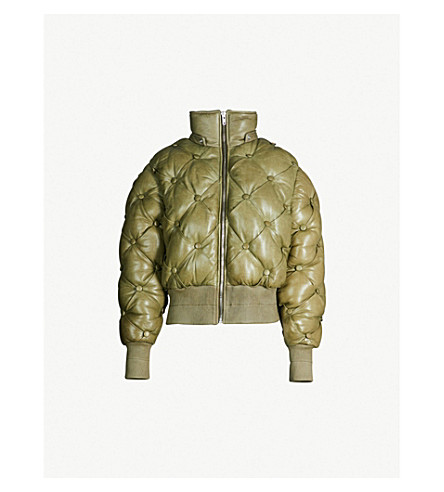 MOOSE KNUCKLES Moose Knuckles x Mary Katrantzou Beecher quilted bomber jacket (Spruce