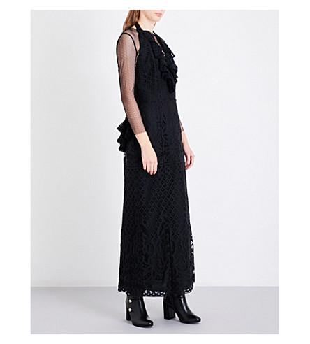 ANNA SUI Ruffled lace dress (Black