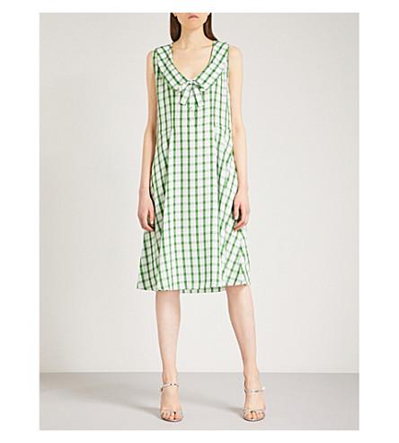 MIU MIU Checked cotton dress (Verde