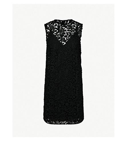 MIU MIU Guipure-lace cotton dress (Nero