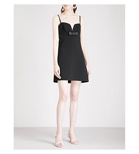 MIU MIU Sweetheart crepe babydoll dress (Nero