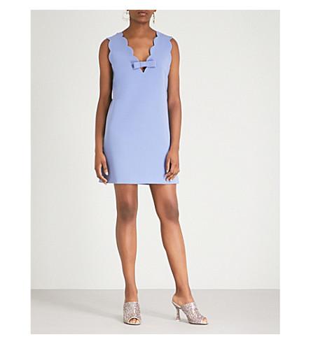 MIU MIU Scalloped-trim crepe mini dress (Pervinca