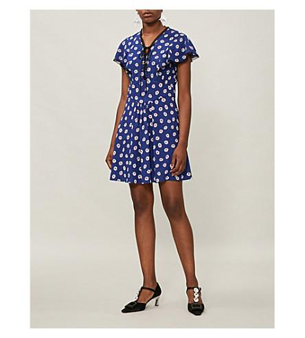 dress MIU Bluette crepe stretch Floral print MIU MIU MIU HgxW5wq0Op