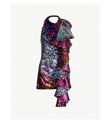HALPERN Cascade sequinned dress (Multi