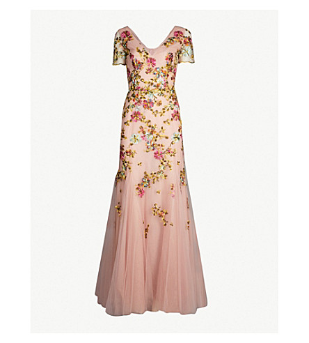 COSTARELLOS Embroidered floral tulle gown (Veramant flowers