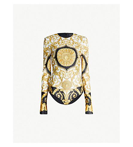 VERSACE Baroque-print stretch-jersey body (Gold print