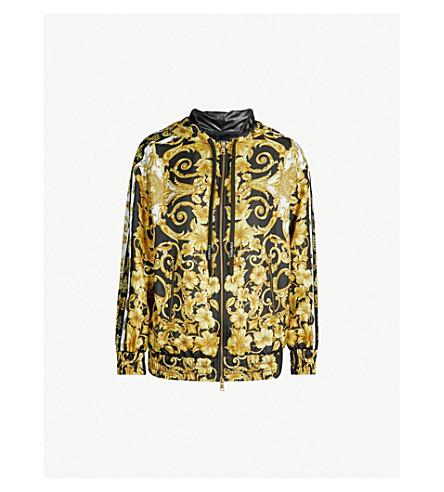 VERSACE Baroque-print silk jacket (Gold print