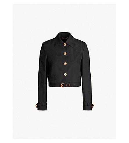 VERSACE Cropped wool jacket (Black