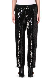 MOSCHINO Sequin-embellished harem trousers