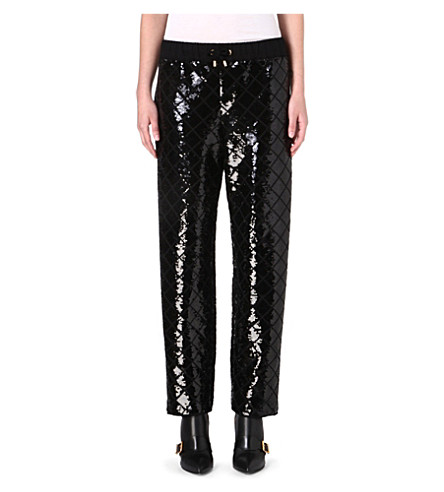 MOSCHINO Sequin-embellished harem trousers (Blk