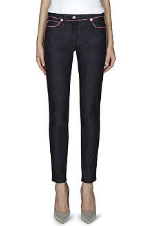 MOSCHINO Skinny mid-rise jeans