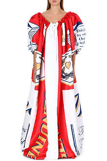 MOSCHINO Printed cape dress