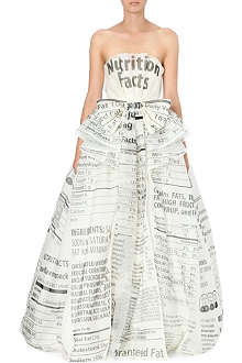 MOSCHINO Nutrition Facts strapless dress