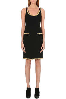 MOSCHINO Quilted rope chain dress