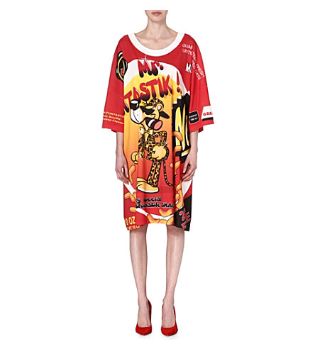 MOSCHINO Nutrition facts t-shirt dress (Red