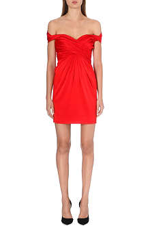 MOSCHINO Ruched satin mini dress