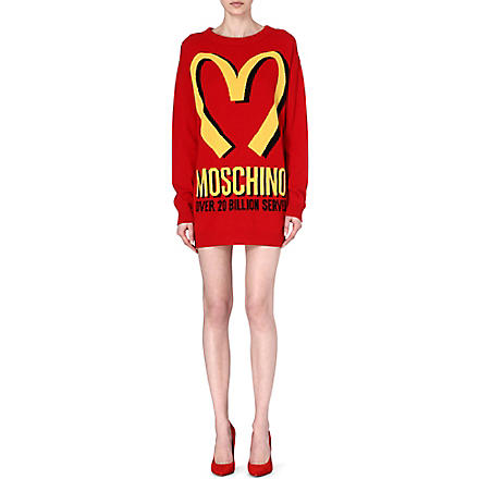 MOSCHINO M knitted mini dress (Red