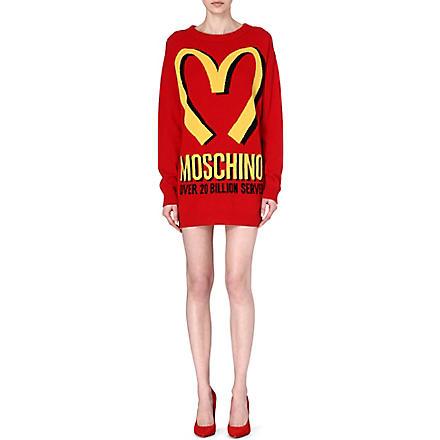 MOSCHINO M knitted mini dress (Red