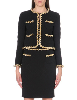 MOSCHINO Chain-detail quilted jacket