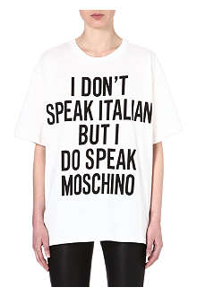 MOSCHINO I Don't Speak Italian cotton t-shirt